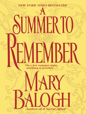 Cover image for A Summer to Remember.