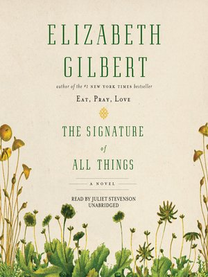 Cover image for The Signature of All Things.